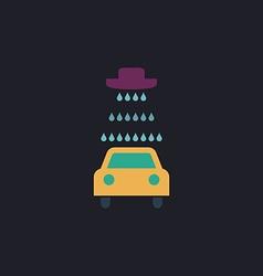 Car wash icons set - computer symbol vector image