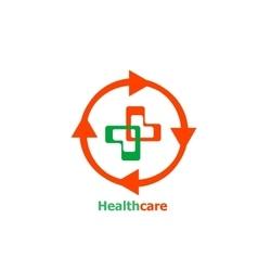Medical cross abstract Logo design vector image