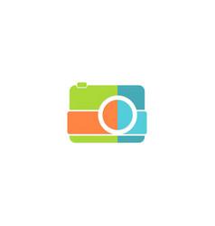 camera photo logo vector image