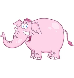 Happy Pink Elephant vector image vector image