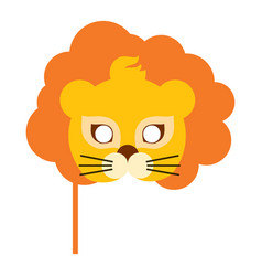 lion animal carnival mask orange king of beast vector image vector image