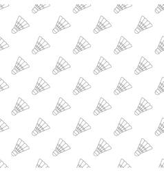 Badminton shuttlecock pattern seamless vector image vector image
