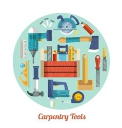 Carpentry tools set vector image