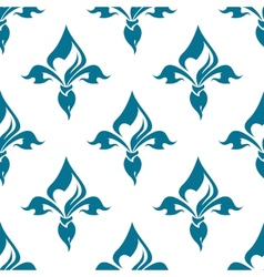Classical French fleur-de-lis seamless pattern vector image
