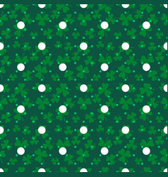 clover trefoil green leaf seamless dotted vector image