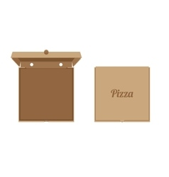 Opened cardboard box for Pizza vector image
