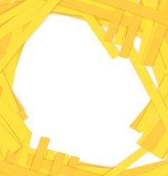 Shredded yellow paper center vector image