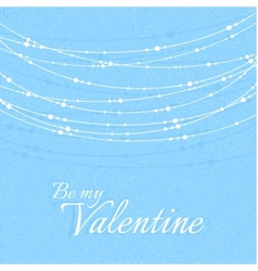Valentines Day with Delicate Beautiful Decorations vector image vector image