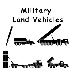 1339 military land vehicles vector image