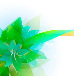 abstract background with green sheet vector image