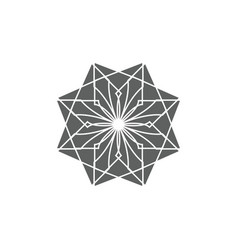 ancient geometric emblem for decorating your own vector image
