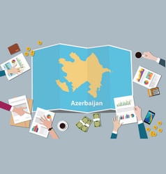 azerbaijan country growth nation team discuss vector image