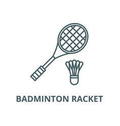 badminton racket line icon linear concept vector image