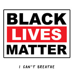 black lives matter typographyprotest banner about vector image