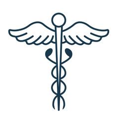 Caduceus icon concept for healthcare medicine and vector