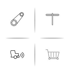 cars and transportation simple linear icon vector image