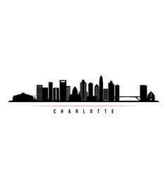 charlotte skyline horizontal banner vector image