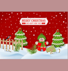 christmas background with ornaments vector image