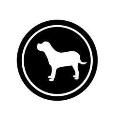 circular frame with figure big dog animal vector image
