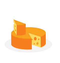 Classic cheese isolated on white vector