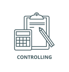 controlling line icon controlling outline vector image