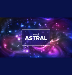 cosmic astral with night sky stars banner vector image