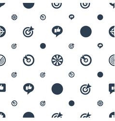 Dartboard icons pattern seamless white background vector