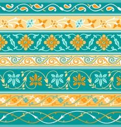 Decorative persian borders vector image
