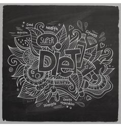 Diet hand lettering On Chalkboard vector