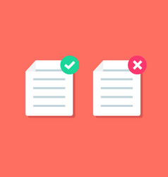 document or paper icon with check mark vector image