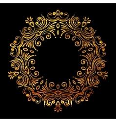 Elegant luxury retro floral gold frame vector image