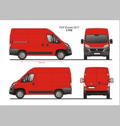 Fiat ducato cargo delivery van 2017 l1h2 vector