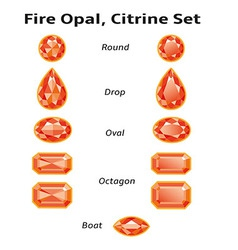Fire Opal Citrine Set With Text vector