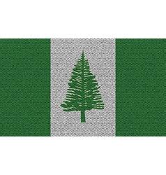 Flags Norfolk Island on denim texture vector