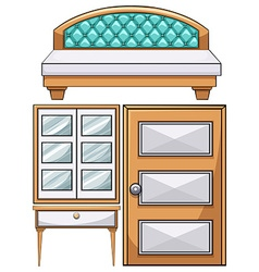 Furniture in the bedroom vector image