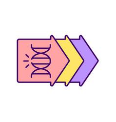 Genetic evolution rgb color icon vector
