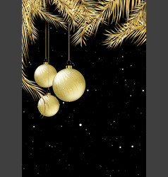 gold and black christmas card design vector image