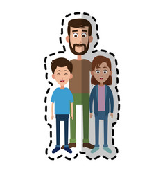 Happy family icon image vector