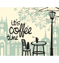 is the coffee time vector image