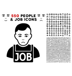 jobless icon with bonus vector image