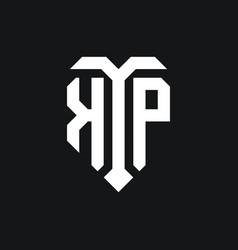 Kp logo monogram design template vector