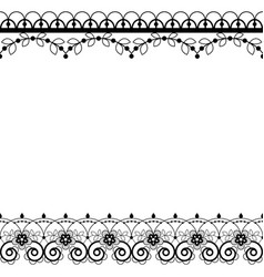 lace pattern greeting card or wedding vector image