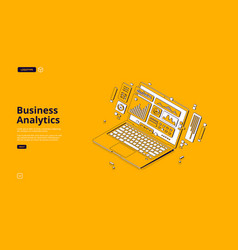 landing page business analytics vector image