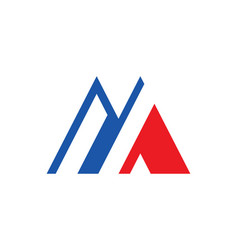 Letter m colored logo vector