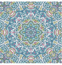 line art flower art mandala doodle design vector image