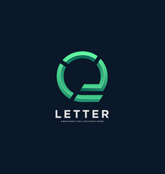 logo letter e gradient colorful style vector image