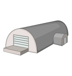 Metal semicircular hangar icon cartoon style vector