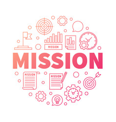 mission creative outline word vector image