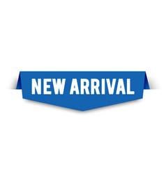 Modern new arrival banner label for web shop vector