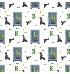 money safe steel vault door finance business vector image